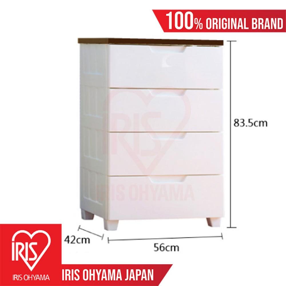 SMG-3554B = 1 UNIT 4-Tiers Brown Top Board Premium Storage Drawers Cabinet Wardrobe