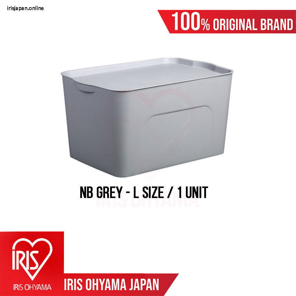 NB Series (Large size) Classic Grey Matte Texture Storage Box with Tray cover