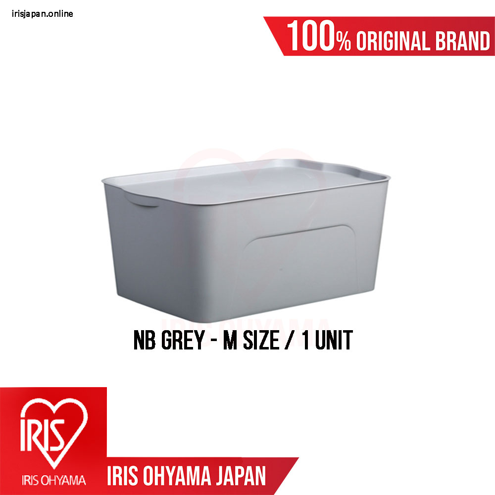 NB Series (Medium size) Classic Grey Matte Texture Storage Box with Tray cover