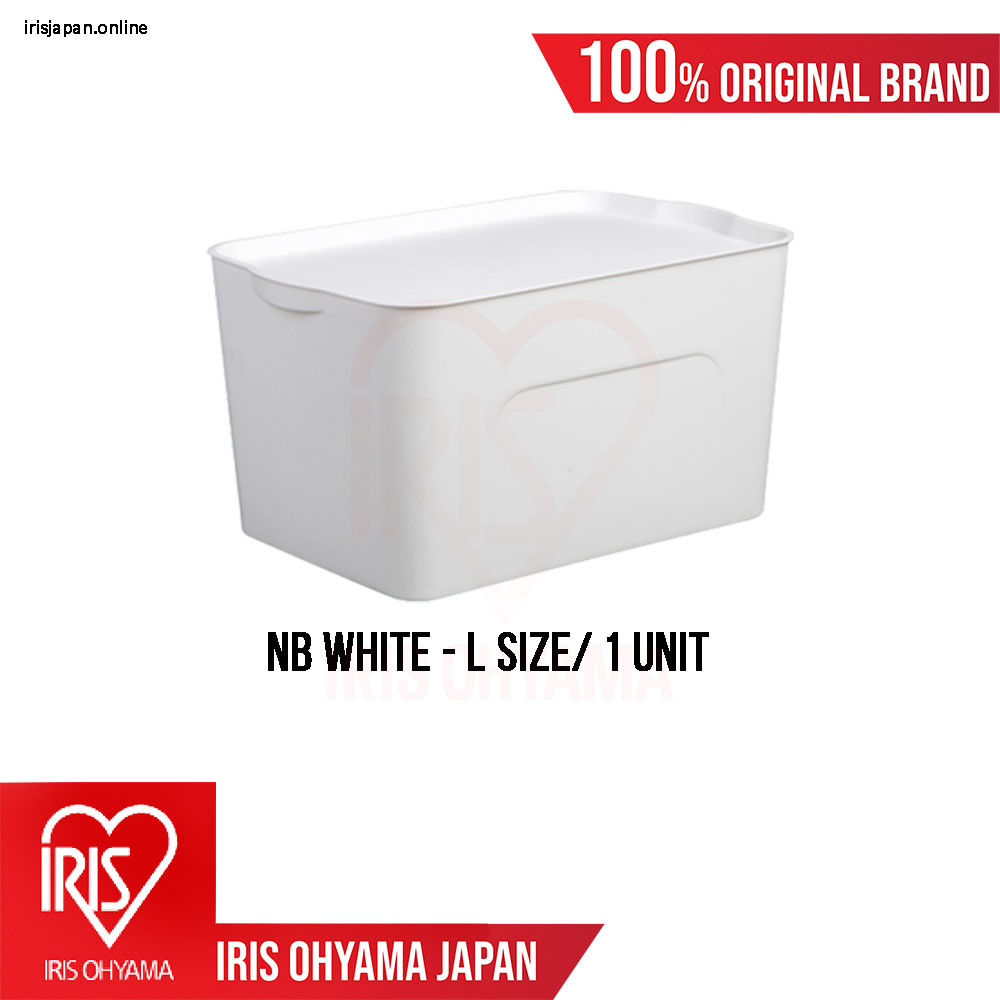 NB Series (Large size) Premium White Matte Texture Storage Box with Tray cover