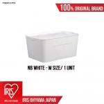 NB Series (Medium size) Premium White Matte Texture Storage Box with Tray cover