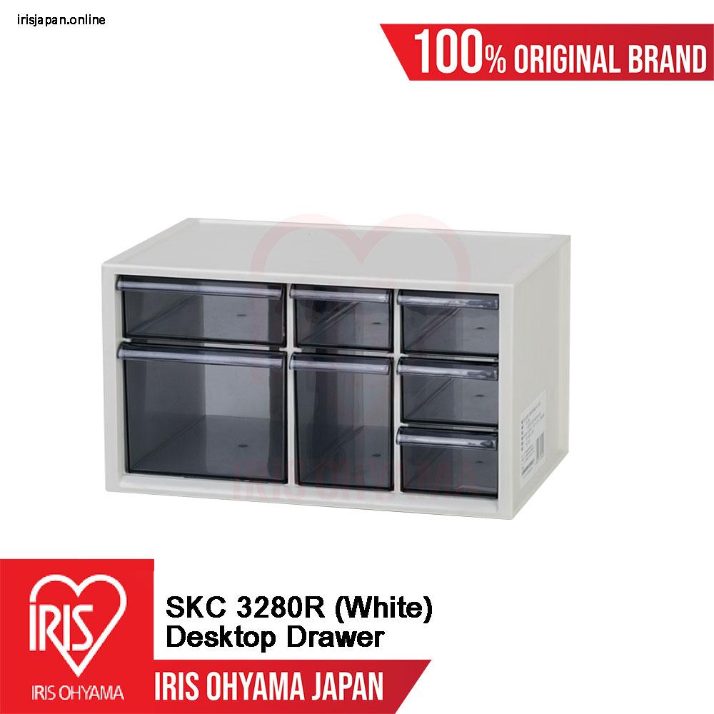 SKC-3280R (White) = 1 UNIT Desktop Mini Drawer Organiser